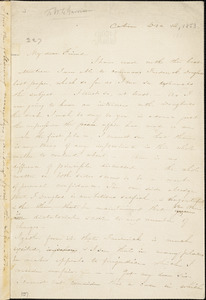 Letter from Harriet Beecher Stowe, Cabin, to William Lloyd Garrison, 1853 Dec[ember] 12