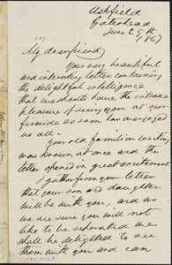 Letter from John Mawson, Ashfield, Gateshead, [England], to William Lloyd Garrison, 1867 June 29th