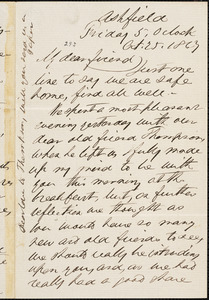 Letter from John Mawson, Ashfield, [Gateshead, England], to William Llloyd Garrison, 1867 Oct[ober] 25