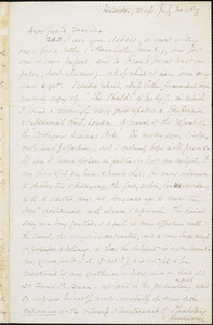 Letter from Samuel May, Leicester, Mass[achusetts], to William Lloyd Garrison, 1877 July 30