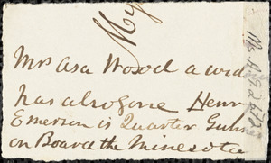 Letter from William Henry Channing, Groton, [Massachusetts], to Anne Warren Weston, 1836 Oct[ober] 24