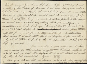 Letter from A.B. Ordway, Boston, [Massachusetts], to Maria Weston Chapman, [1839]