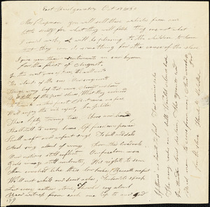 Letter, East Bridgewater, [Massachusetts], to Maria Weston Chapman, 1839 Oct[ober] 17