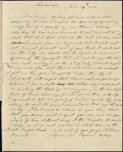 Letter from Experience Billings, Foxborough, [Massachusetts], to Maria Weston Chapman, 1839 June 29