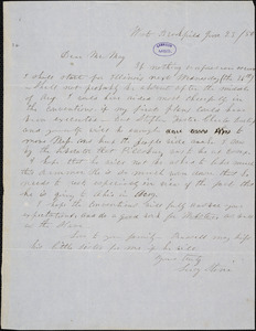 Letter from Lucy Stone, West Brookfield, [Massachusetts], to Samuel May, [18]50 June 23