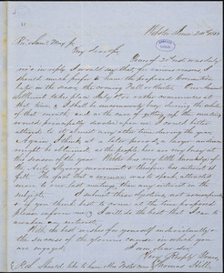 Letter from Thomas Hill, Webster, [Massachusetts], to Samuel May, 1850 June 24th