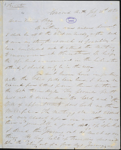 Letter from Parker Pillsbury, Concord, N[ew] H[ampshire], to Samuel May, 1850 July 30th