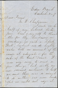 Letter from Eliza Nicholson, Eden Bank, [Carlisle, Scotland], to Maria Weston Chapman