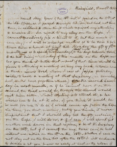 Letter from Charles Calistus Burleigh, Plainfield, [Connecticut], to Samuel May, 1850 [August] 19th