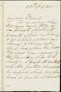 Letter from Elizabeth Pease Nichol to Maria Weston Chapman, 1839 Sept[ember] 28