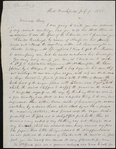 Letter from Lucy Stone, West Brookfield, [Massachusetts], to Samuel May, 1851 July 9