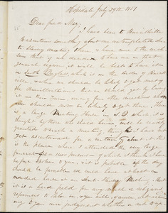 Letter from William Henry Fish, Hopedale, [Massachusetts], to Samuel May, 1851 July 29th