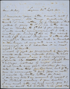 Letter from George W. Putnam, Lynn, [Massachusetts], to Samuel May, 1851 Sept[ember] 24th