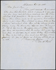 Letter from William Henry Fish, Hopedale, [Massachusetts], to Samuel May, 1851 Oct[ober] 28