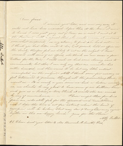 Letter from Abby R. Talbot, Dighton, [Massachusetts], to Maria Weston Chapman, [1840] October 21