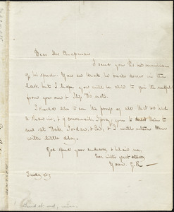 Letter from George Ripley to Maria Weston Chapman, [1840]