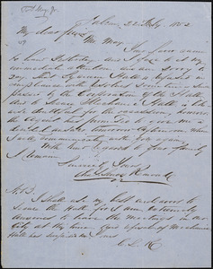 Letter from Charles Lenox Remond, Salem, [Massachusetts], to Samuel May, 1852 July 22