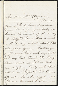 Letter from A.W. Powers, Paris, [France], to Maria Weston Chapman, [1853]