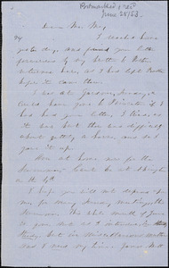 Letter from Lucy Stone to Samuel May, [1853 June 28]