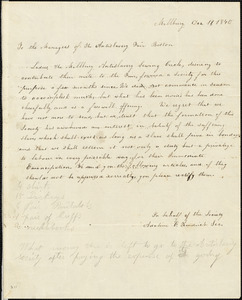 Letter from Adaline E. Kendrick, Millbury, [Massachusetts], to Maria Weston Chapman, 1840 December 19