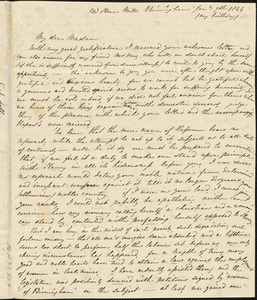 Letter from C.S. Toll to Maria Weston Chapman, [1843]