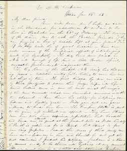Letter from Abby Kelley Foster, Utica, [New York], to Maria Weston Chapman, 1843 Jan[uary] 23