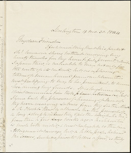 Letter from Elizabeth Pease Nichol, Darlington, [England], to Maria Weston Chapman, 1844 April 30
