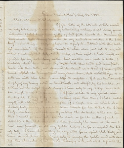 Letter from George Bradburn, [Green Plain, Ohio], to Maria Weston Chapman, 1843 Aug[ust] 31