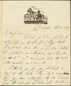 Letter from George Thompson, Darlington, [England], to Richard Davis Webb, 1839 Feb[ruary] 15