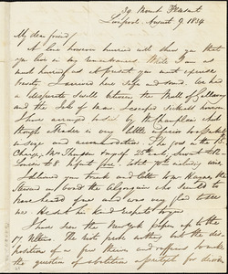 Letter from George Thompson, Liverpool, [England], to Robert Purvis, 1834 August 9