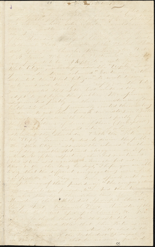Letter from William Watkins, Balt[imore, Maryland], to William Lloyd Garrison, 1835 Sept[ember] 30th