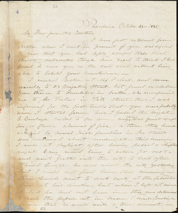Letter from George William Benson, Providence, [Rhode Island], to William Lloyd Garrison, 1835 October 23