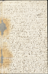 Letter from Charles Calistus Burleigh, Plainfield, [Connecticut], to William Lloyd Garrison, [18]35 Dec[ember] 29th