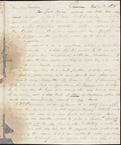 Letter from William Goodell, Providence, [Rhode Island], to William Lloyd Garrison, 1836 Feb[ruary] 25th
