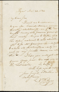 Letter from Nathaniel Peabody Rogers, Plym[outh, New Hampshire], to William Lloyd Garrison, 1836 Nov[ember] 24