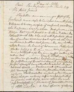 Letter from Anne Knight, Paris, [France], to William Lloyd Garrison, 1838 [March] 14