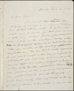 Letter from Edmund Quincy, Boston, [Massachusetts], to William Lloyd Garrison, 1838 June 14
