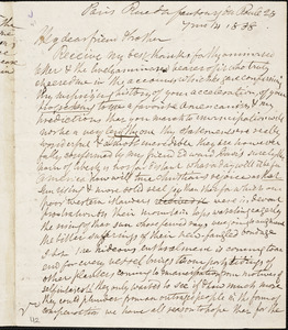 Letter from Anne Knight, Paris, [France], to William Lloyd Garrison, 1838 [July] 14