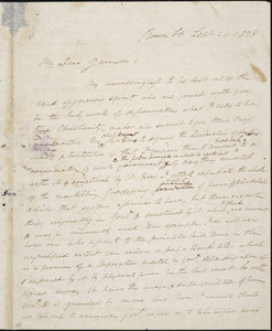 Letter from Edmund Quincy, Beacon St[reet, Boston, Massachusetts], to William Lloyd Garrison, 1838 Sept[ember] 21
