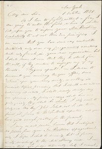 Letter from George Bourne, New York, [New York], to William Lloyd Garrison, 1838 October 1