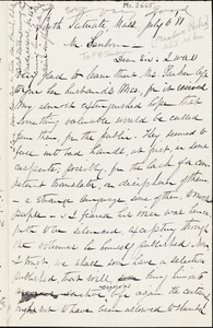 Letter from William Henry Fish, South Scituate, [Massachusetts], to Franklin Benjamin Sanborn, 1881 July 6