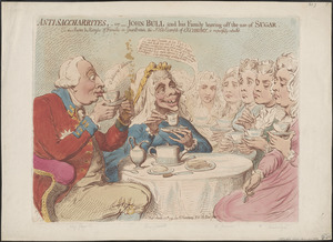 Anti-saccharrites - or - John Bull and his family leaving off the use of sugar