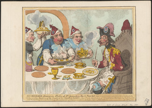 Dumourier dining in State at St. James's on the 15 May, 1793