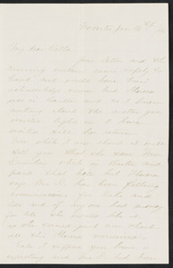 Letter to 'Bella', incomplete, from Worcester, January 14, 1874