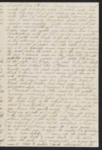 Letter to her mother [Isabel] from Alice, Lincoln, December 1872