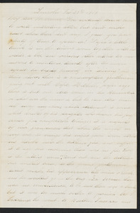 Letter to her mother [Isabel] from Alice, Lincoln, February-March 1873