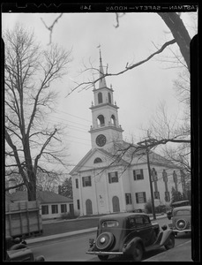 Unitarian church in Dedham Square (for Jack Frost sketch)