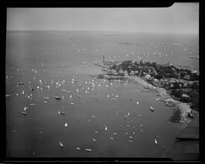 Marblehead Harbor from the air