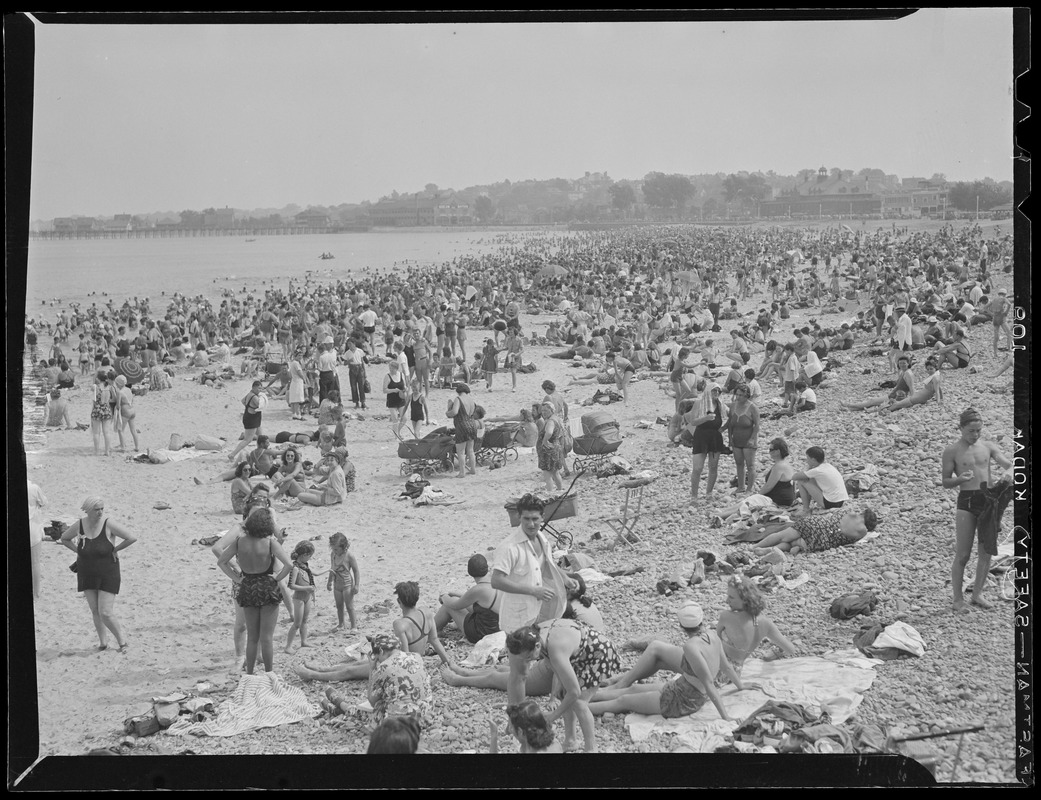 Beach crowd at Revere