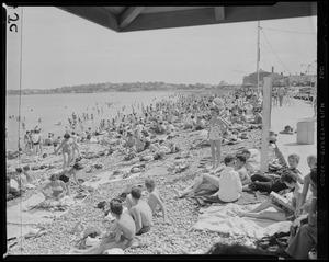 Crowds at Revere Beach